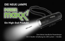 Lampe Maxx1 mit 200 Lumen Power LED
