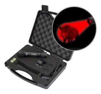 Maxx 3  Pro Hunting Lampen  Kit mit Magnethalterung mit  roter CREE Power LED