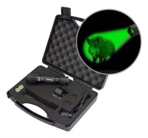 Maxx 3  Pro Hunting Lampen  Kit mit Magnethalterung mit  grüner CREE Power LED