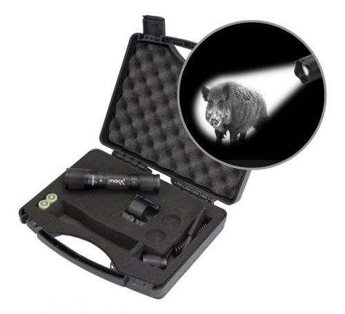 Maxx 3  Pro Hunting Lampen Kit mit Magnethalterung mit weißer CREE Power LED